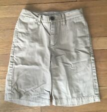 Gap Kids Boys Flat Front Stone Adjustable Waist Uniform Shorts Boys 10 Slim EUC