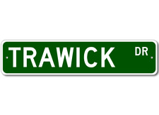 TRAWICK Street Sign - Personalized Last Name Sign
