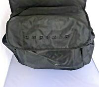Capezio Travel Bag Black Tote Carry Strap Outside Pocket Snap Close Train Vintag