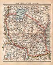DEUTSCH-OSTAFRIKA DOA Tansania Sansibar Unjamwesi Kawende LANDKARTE 1901 AFRIKA