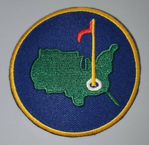 """""""THE MASTERS GOLF HISTORY"""" EMBROIDERED IRON ON 3 X 3 PATCH"""