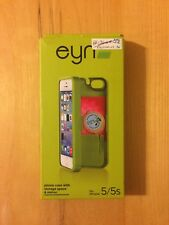 eyn iPhone 5/5s/5se phone case with storage space & mirror [green]