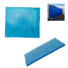 25 *22 *1cm Comfort Cushion Motorcycle Seat Gel Pad Blue Elastic Fiber Motorbike