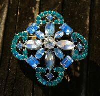 BROOCH vintage Maltese cross, beautiful brooch with crystals