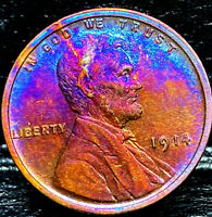 """1914 P Lincoln Wheat Penny Cent- """"Beautiful Toning"""" SUPERB GEM HIGH GRADE #01"""