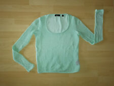 MEXX Metropolitan Sommer Pullover Lochmuster Materialmix mint türkis pastell S