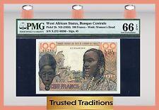 TT PK 2b ND 1959 WEST AFRICAN STATES 100 FRANCS PMG 66 GEM UNCIRCULATED