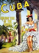 TRAVEL Cuba Hacienda SENORITA Maracas Tropicale Vintage Poster Art Print 959py