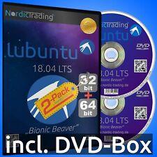 Lubuntu 18.04.5 LTS 2-Pack 32+64bit DVDs Linux Betriebssystem Markenware