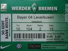 TICKET 2009/10 SV Werder Bremen - Bayer Leverkusen
