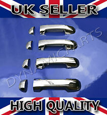 FORD TRANSIT CONNECT CHROME  4 DOORS HANDLE COVERS SET STAINLESS STEEL 2002-2013