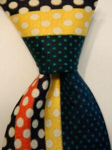 VITALIANO PANCALDI Men's Silk Necktie ITALY Luxury Geometric Multi-Colored EUC