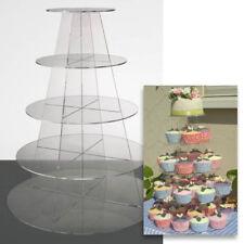 Cupcake stand 5 étages ronde acrylique clair affichage tour pour mariage & fête uk