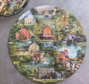 Spingbok Circular Jigsaw Puzzle ~ Grist Mills ~ Asterio Pascolini ~ 500+ Pieces