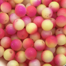 5mm 100pcs Round Pearl Matte multicolored Loose Beads Spacer Jewelry Making #09