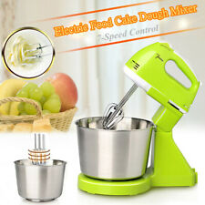 Electric Hand Stand Mixer Cooking Food Baking w/ Bowl Kitchen 7 Speed 100W 2L