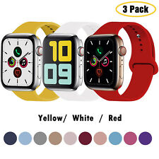 Silicone Sports Band Strap  5 4 3 2 1 Apple Watch Series 38/42/40/44mm3 PACK