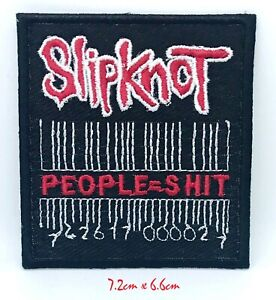 Slipknot (People=Shit) music logo Iron on Sew on Embroidered Patch #1306