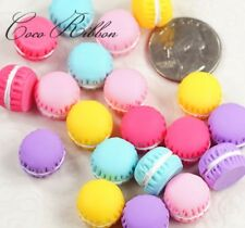 14mm 20pc Small Mixed Polymer Clay Miniature Macaron Sweet Flatback Cabochon G44