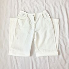 Chanel Vintage Cream Off White Jeans Size 38