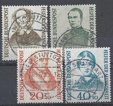 "BRD Mi.-Nr.222-225 Vollstempel Stuttgart ""Wohlfahrt 1955"" mit Originalgummi! TOP"