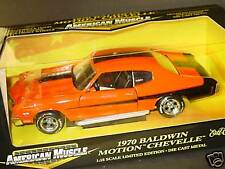 ERTL 1/18, 1970 BALDWIN MOTION CHEVELLE, Orange-Black