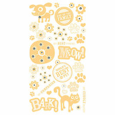 BasicGrey MAX & WHISKERS SPARKLING RUB-ONS Maize #2483 scrapbooking