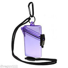Witz Dry Box See it Safe for ID Cards, Licenses Scuba Diving Gear Bag NEW Purple