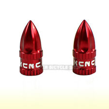 KCNC Aluminum Presta / French Valve Cap , Red
