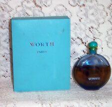 Vtg (1939?) Worth Je Reviens Perfume Splash 2oz(?) Blue Lalique Btl Still Sealed