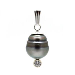 BIZARR & EDEL ● TAHITI Zucht Perle + Venezianer Kette Sterling Silber 925