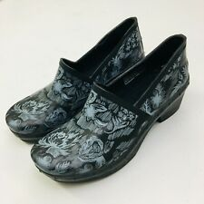 DANSKO Womens Professional Black Floral Clogs  Size 36