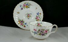 Minton English Bone China Teacup and Saucer ( Marlowe) Multicolored Flowers