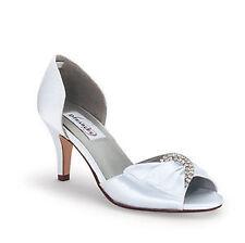 Satin Open Toe Solid Heels for Women