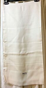 Vintage and Elegant Ivory Silk Scarf from Ratti, Como, Italy. Made in Italy.