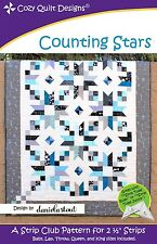 COUNTING STARS QUILTING PATTERN, From Cozy Quilt Designs, NEW