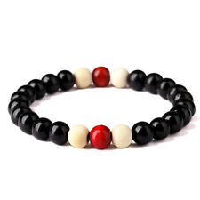 8mm Men Women Bracelet Wood Beaded Charm Bracelets Bangles Fashion Jewelry Gift