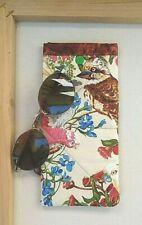 Australian Birds Sunglasses Case Soft Padded Glasses Pouch Handmade Snap Close
