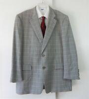 BURBERRY jacket blazer sport coat 100% wool kensington houndstooth 46 46R