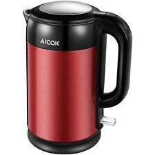 Aicok Electric Kettle Double Wall Cool Touch 1500W Tea Kettle Stainless Steel