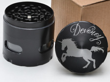 Glimmer Unicorn Personalized Name 4 Layer Herb Grinder with Glass Windows Gift