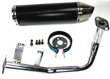 GY5 50cc Scooter Performance Exhaust Muffler 4 Stroke QMB139 Black Cannister
