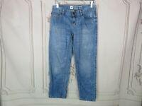 Mossimo Boyfriend Jeans Womens Size 2 Low Rise Skinny Medium Wash Distressed