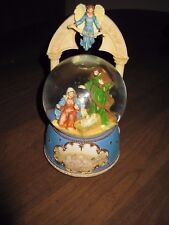 San Francisco Music Box Company Christmas Manger Nativity Snow Globe Baby Jesus