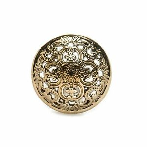 Hollow Carved Metal Buttons 5pcs Sewing Scrapbook Craft Handwork Clothing Button
