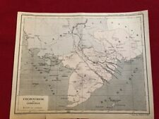 Ancienne Carte géographique De Cochinchine Et  Du Cambodge Atlas National