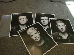 Westlife signed photographs. All group handsign