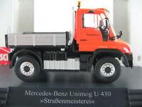 """Busch 50911 Mercedes-Benz Unimog U 430 (2013) """"Straßenmeisterei""""1:87/H0 NEU/OVP"""