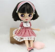 Blythe Doll (OUTFIT INCLUDED) BJD Joint Body Short Dark Brown Hair 30cm