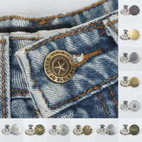 10pcs 17mm Metal Jeans Button Sewing Clothes Accessories DIY Replacement Button